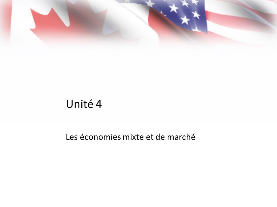 Unité 4 Les économies mixte et de marché