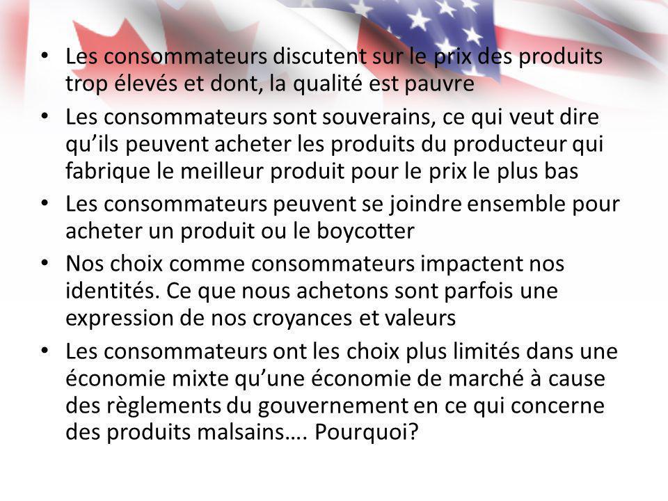 Les consommateurs discutent sur le prix des produits trop élevés et dont, la qualité est pauvre