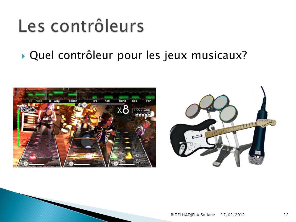Les contrôleurs Quel contrôleur pour les jeux musicaux