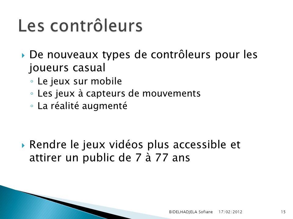 Les contrôleurs De nouveaux types de contrôleurs pour les joueurs casual. Le jeux sur mobile. Les jeux à capteurs de mouvements.
