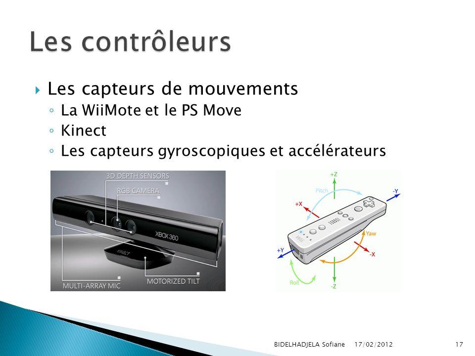 Les contrôleurs Les capteurs de mouvements La WiiMote et le PS Move