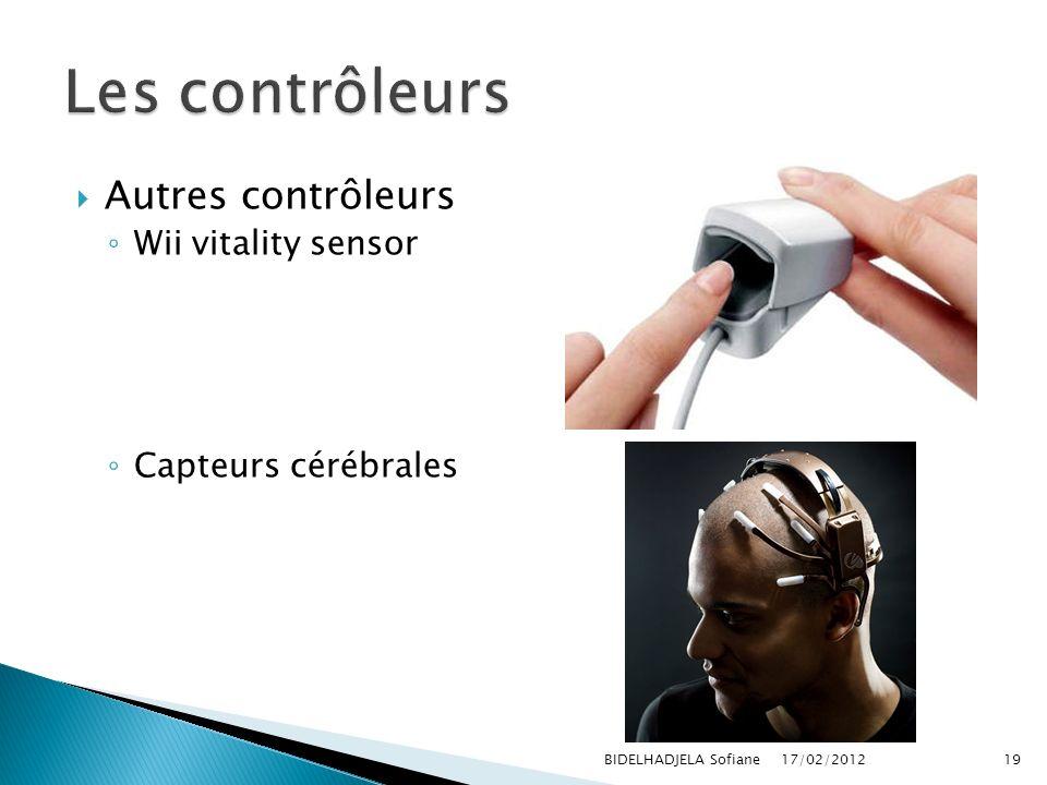 Les contrôleurs Autres contrôleurs Wii vitality sensor