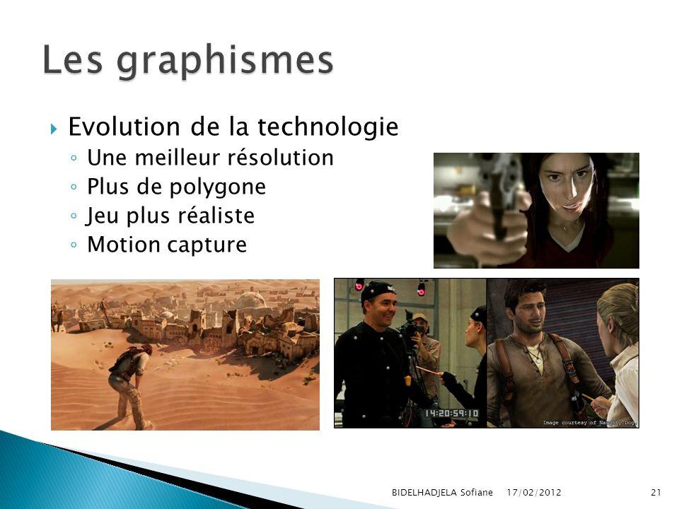 Les graphismes Evolution de la technologie Une meilleur résolution