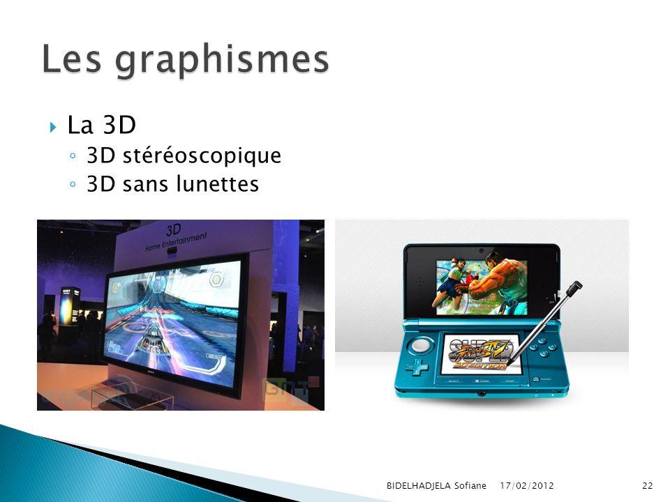 Les graphismes La 3D 3D stéréoscopique 3D sans lunettes
