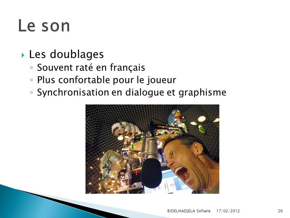 Le son Les doublages Souvent raté en français