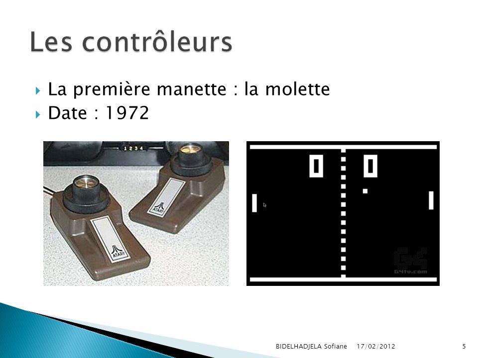 Les contrôleurs La première manette : la molette Date : 1972