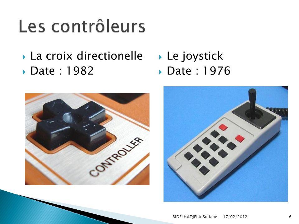 Les contrôleurs La croix directionelle Date : 1982 Le joystick
