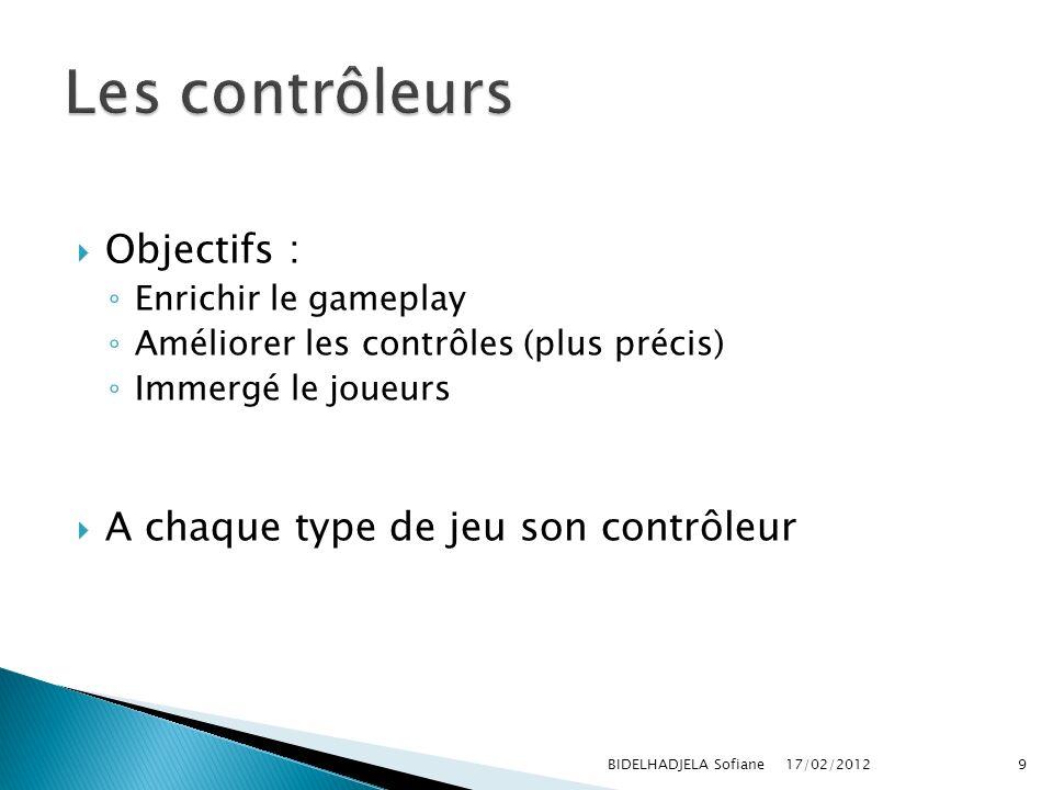 Les contrôleurs Objectifs : A chaque type de jeu son contrôleur