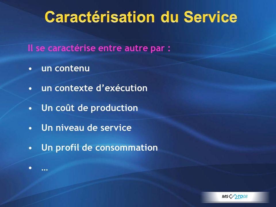 Caractérisation du Service