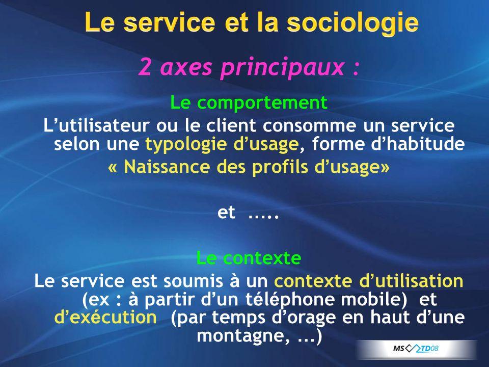 Le service et la sociologie