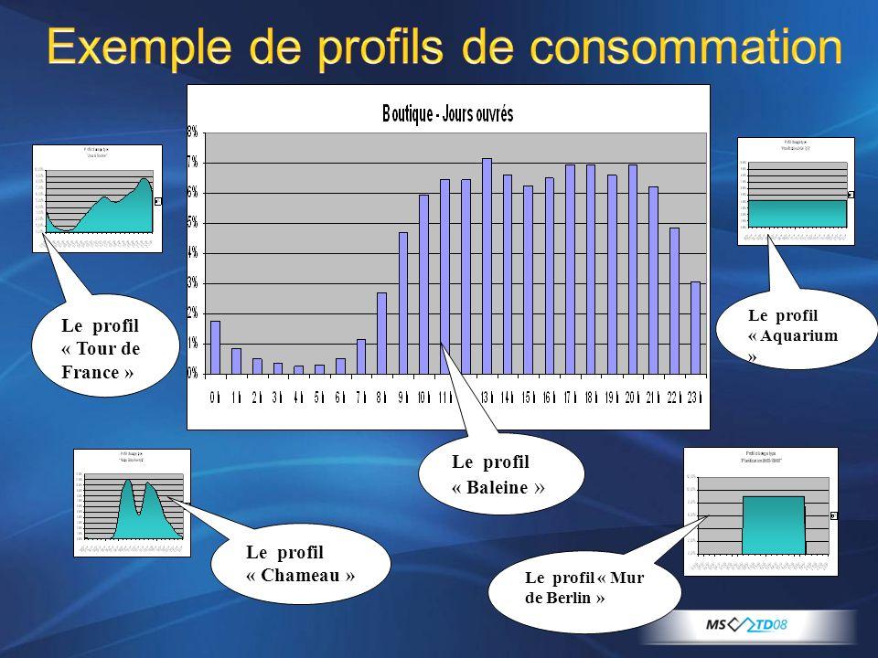 Exemple de profils de consommation