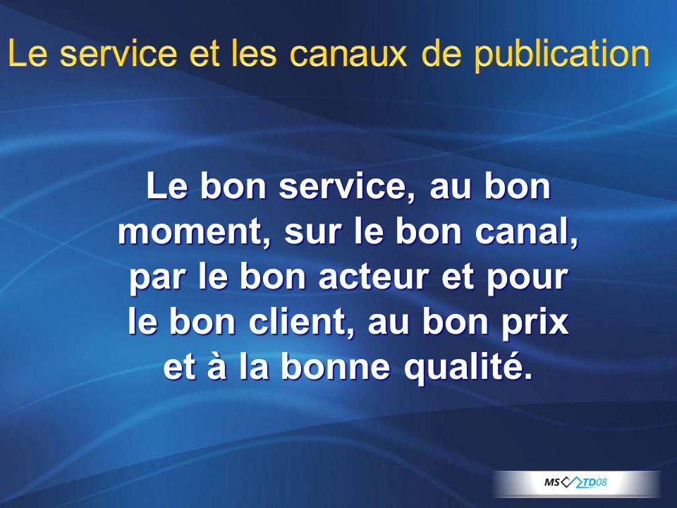 Le service et les canaux de publication