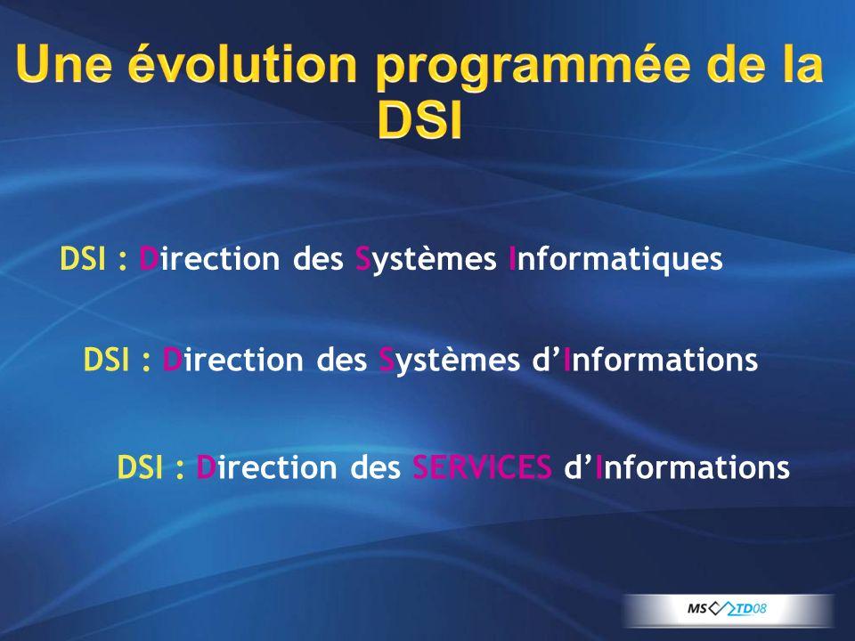 Une évolution programmée de la DSI