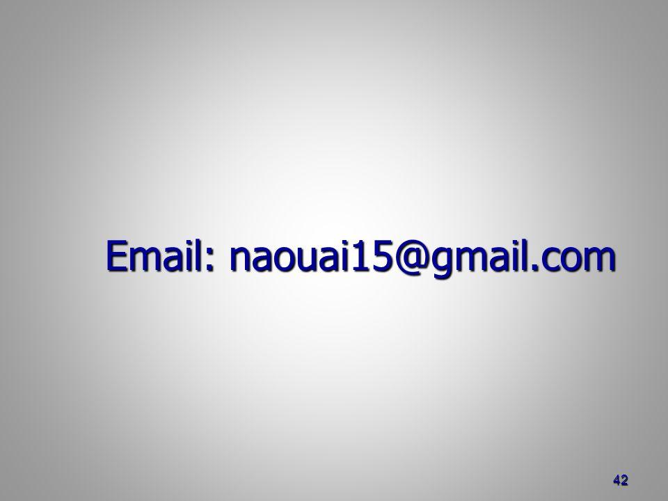 Email: naouai15@gmail.com