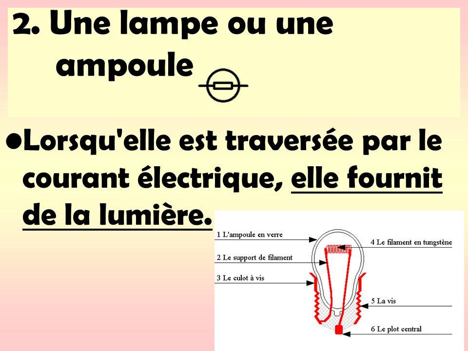 2. Une lampe ou une ampoule