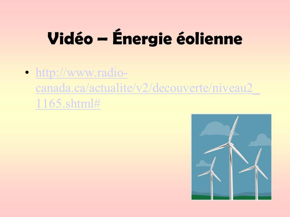 Vidéo – Énergie éolienne