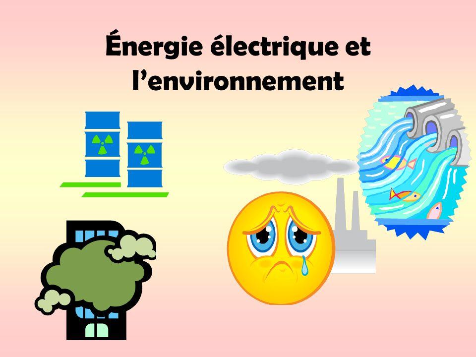 Énergie électrique et l'environnement