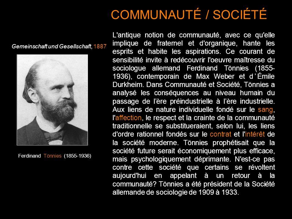 COMMUNAUTÉ / SOCIÉTÉ