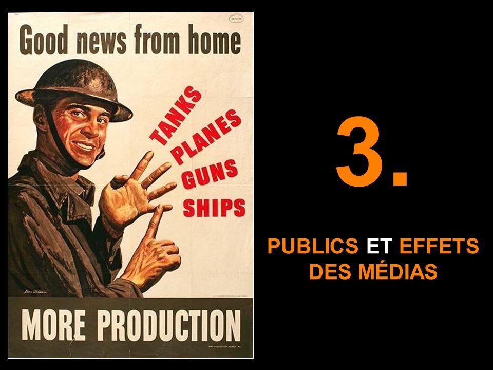 PUBLICS ET EFFETS DES MÉDIAS