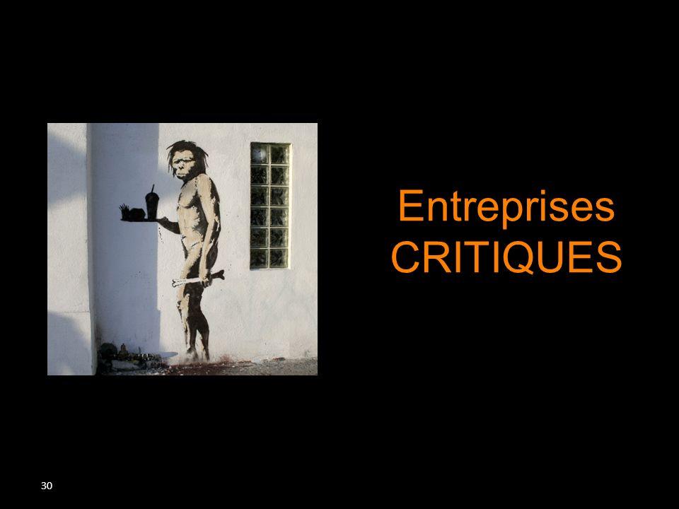 Entreprises CRITIQUES De Kant à Baudrillard Plan de la séance :