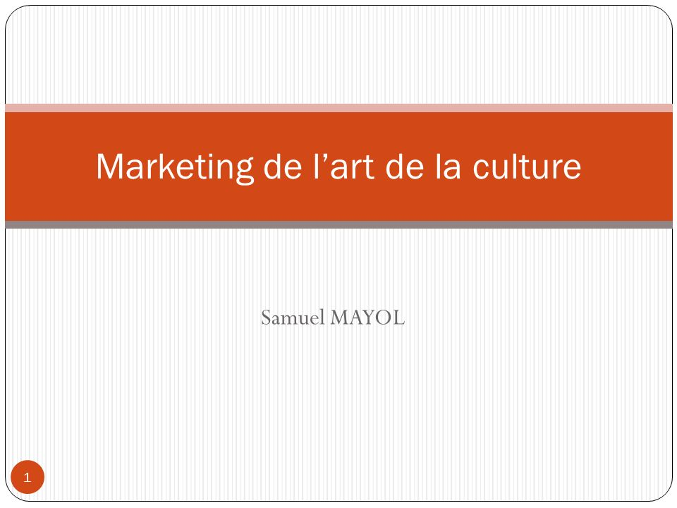 Marketing de l'art de la culture