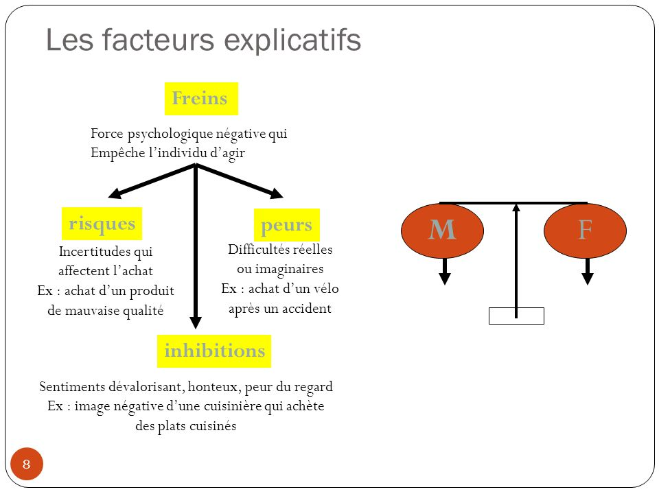 Les facteurs explicatifs