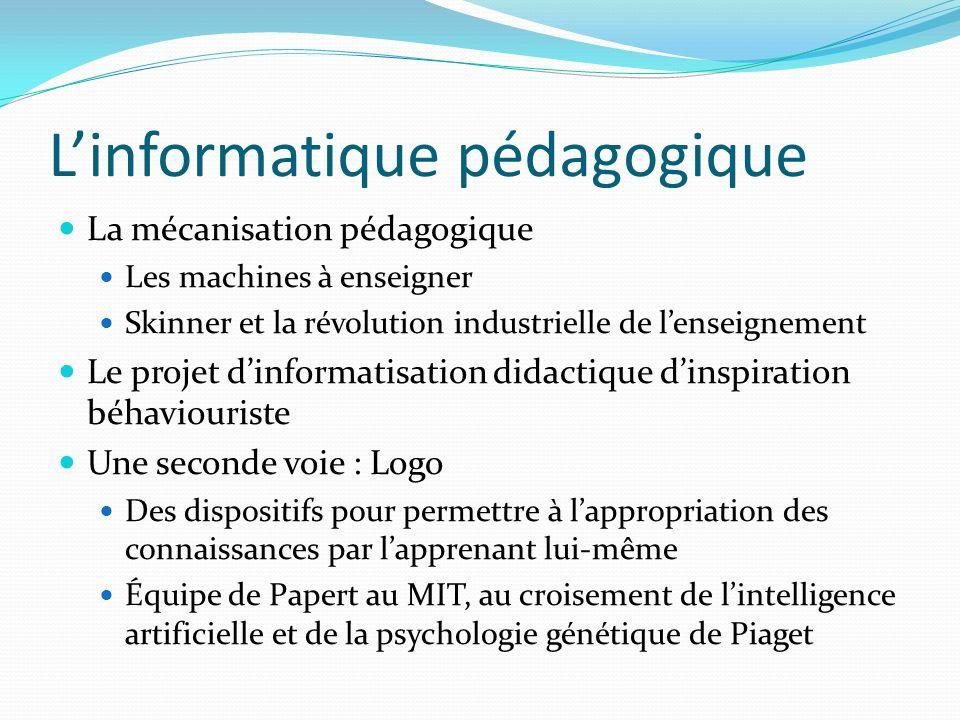 L'informatique pédagogique