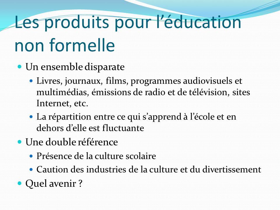 Les produits pour l'éducation non formelle