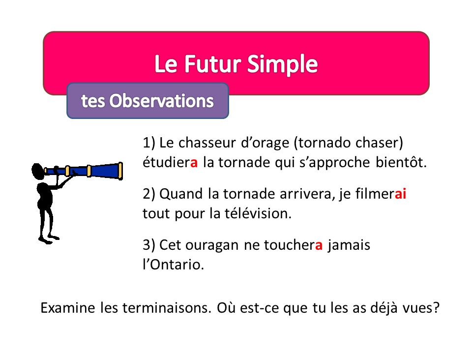 Le Futur Simple tes Observations
