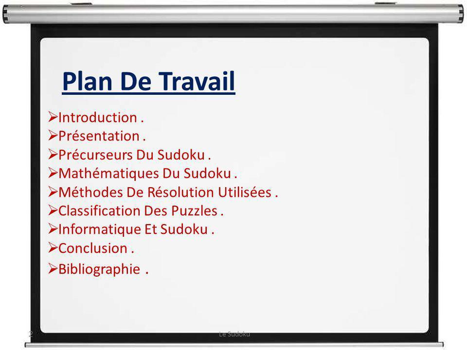 Plan De Travail Plan De Travail : Introduction . Présentation .