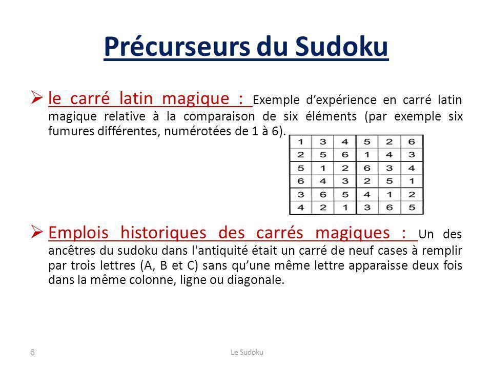 Précurseurs du Sudoku