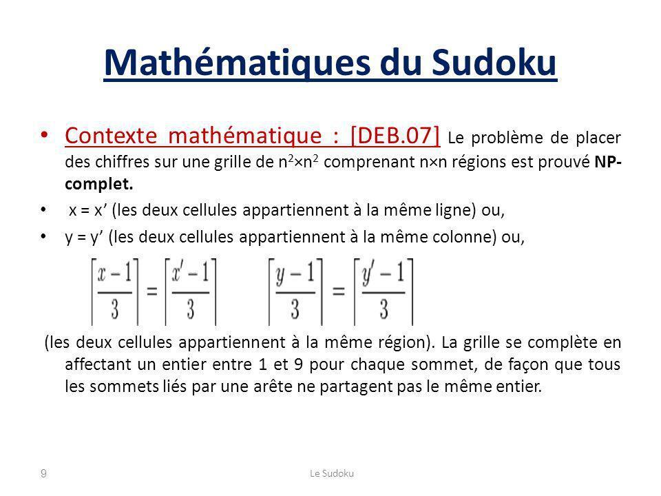 Mathématiques du Sudoku