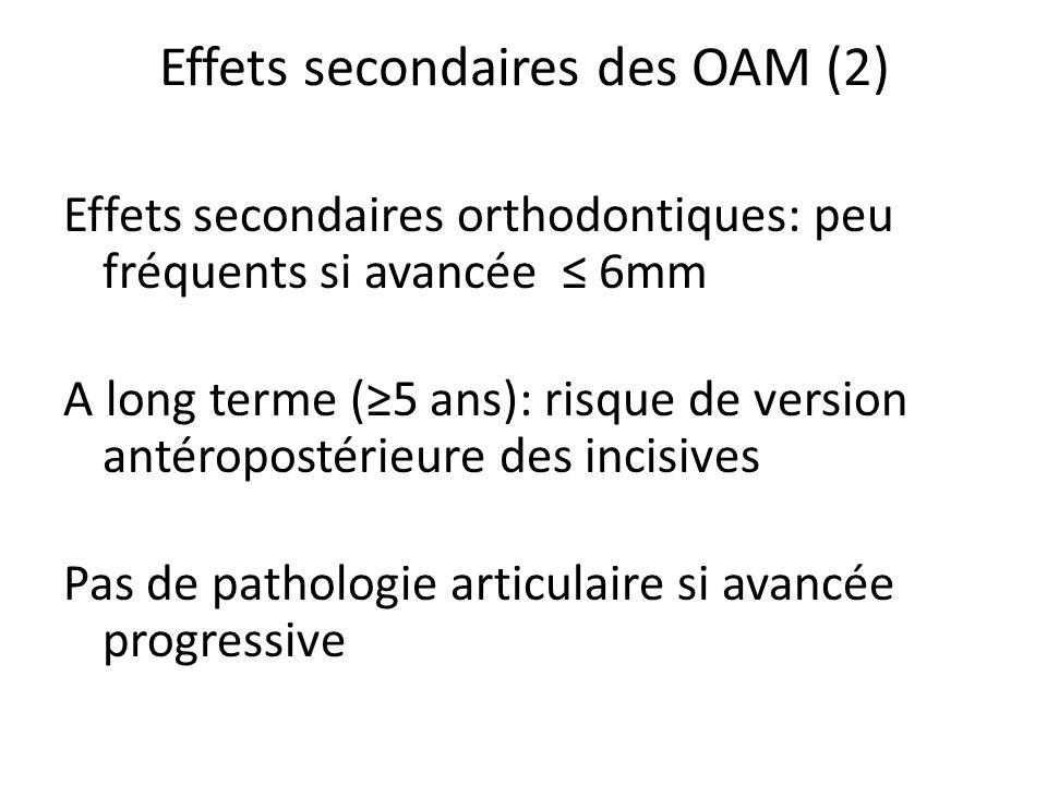 Effets secondaires des OAM (2)