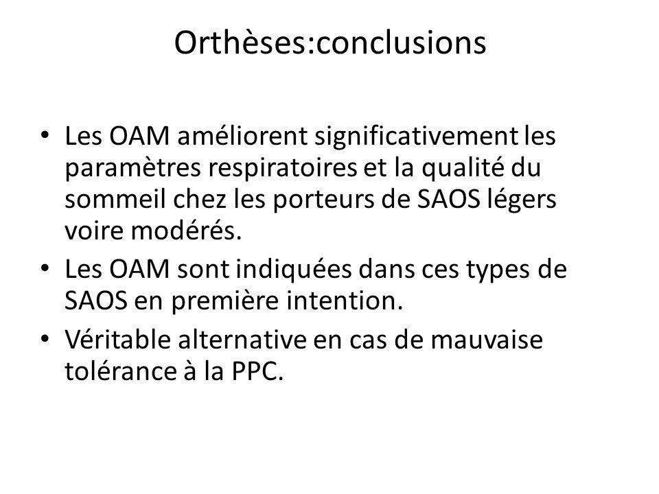 Orthèses:conclusions