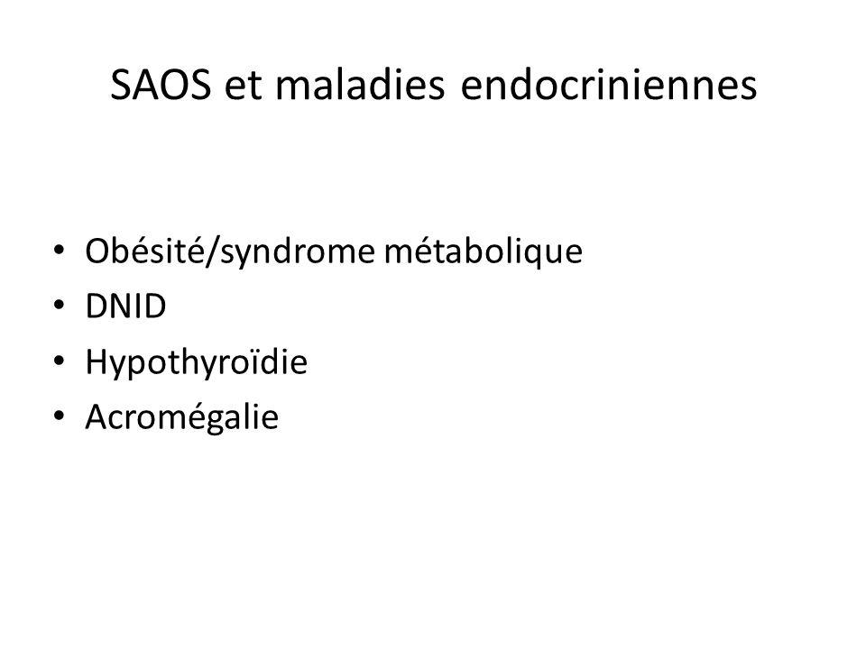 SAOS et maladies endocriniennes