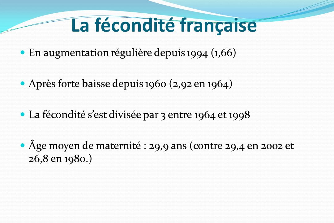 La fécondité française