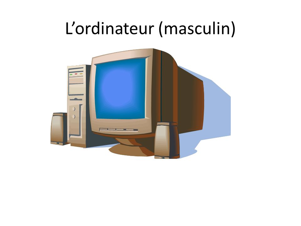 L'ordinateur (masculin)
