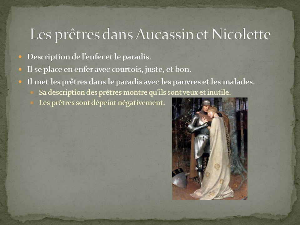 Les prêtres dans Aucassin et Nicolette