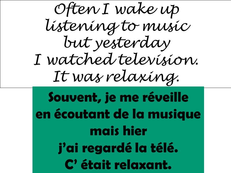 en écoutant de la musique