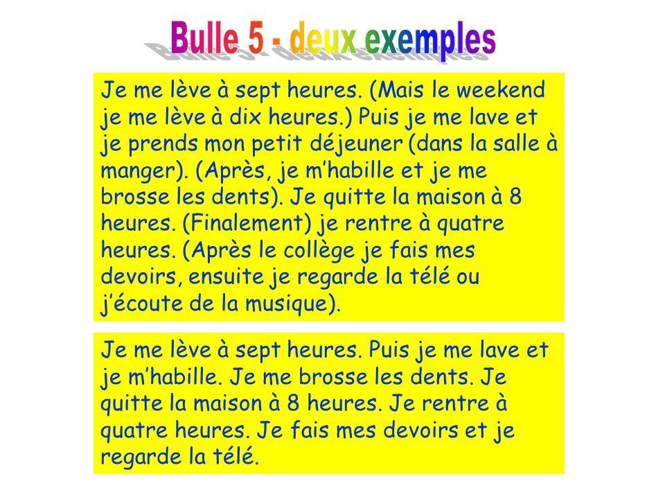 Bulle 5 - deux exemples