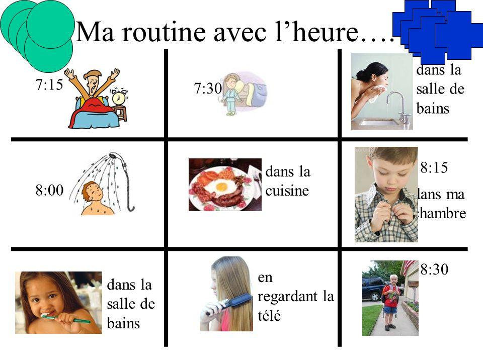 Ma routine avec l'heure….