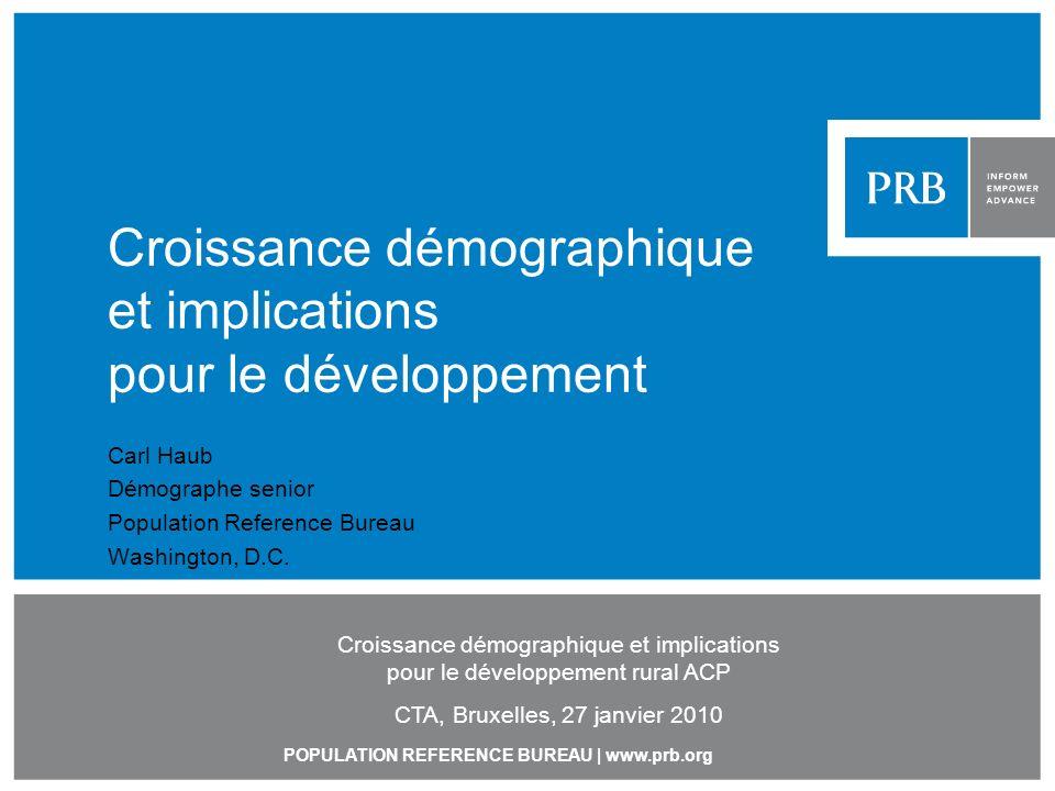 Croissance démographique et implications pour le développement