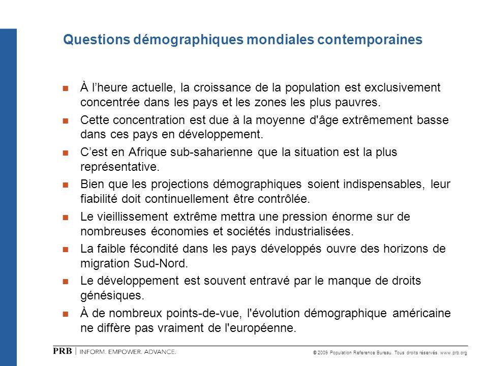 Questions démographiques mondiales contemporaines