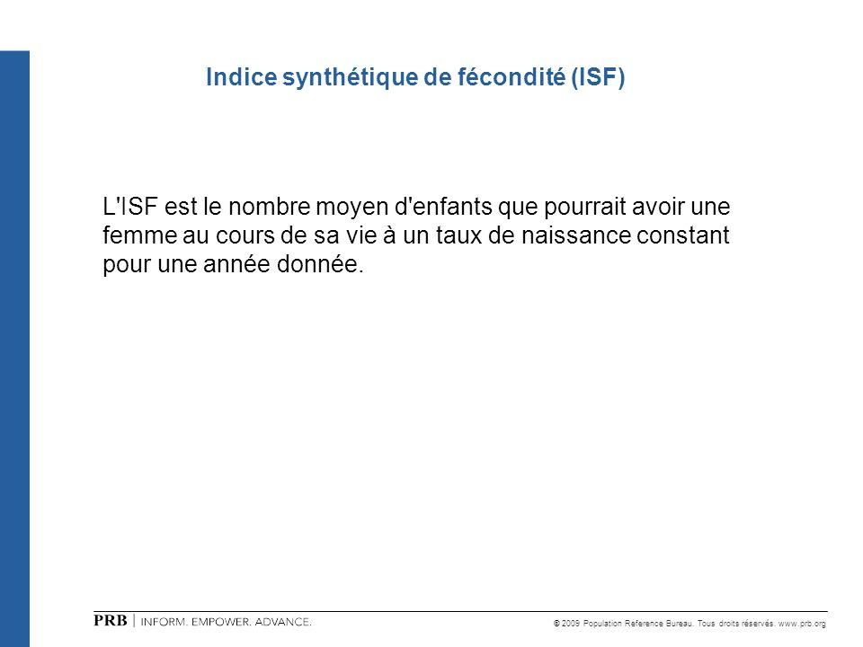 Indice synthétique de fécondité (ISF)