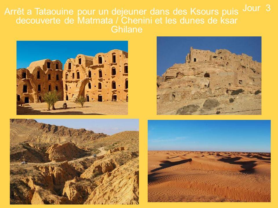 Jour 3 Arrêt a Tataouine pour un dejeuner dans des Ksours puis decouverte de Matmata / Chenini et les dunes de ksar Ghilane.