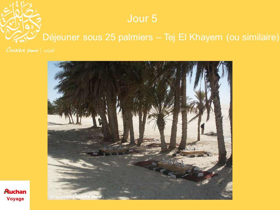 Déjeuner sous 25 palmiers – Tej El Khayem (ou similaire)
