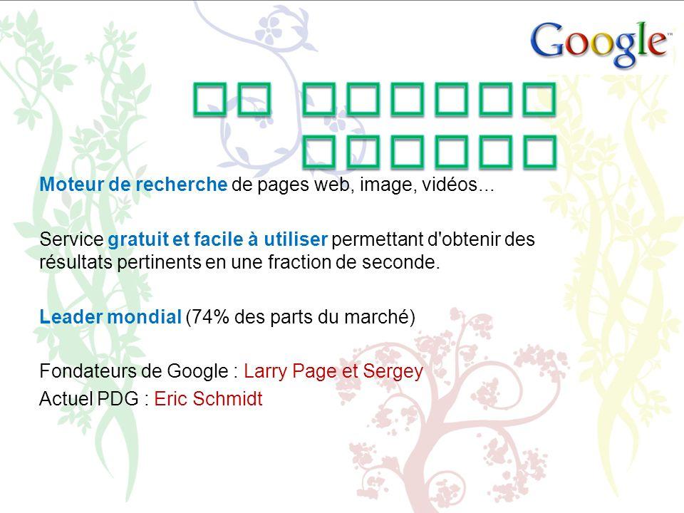 La Marque Google Moteur de recherche de pages web, image, vidéos...