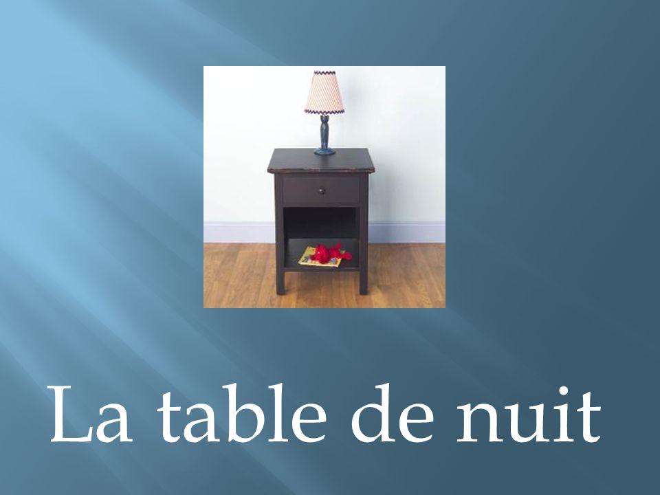 La table de nuit