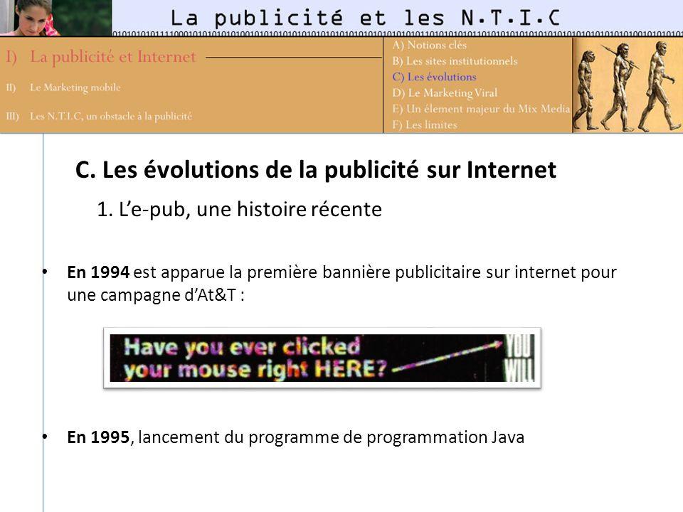 C. Les évolutions de la publicité sur Internet