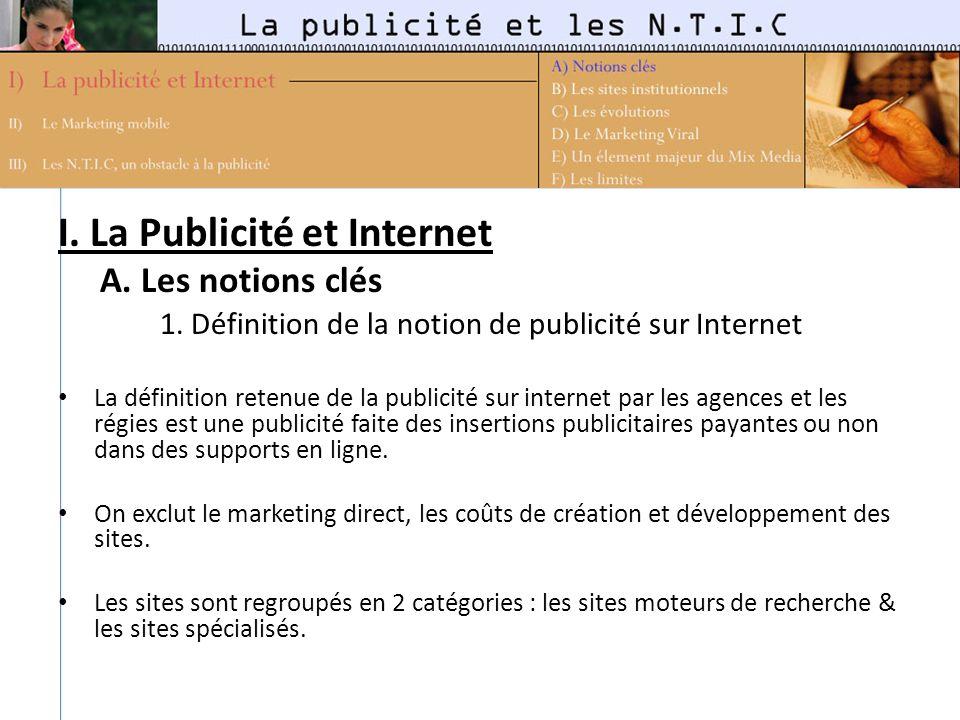 I. La Publicité et Internet